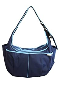 Baby Hobo Original Diaper Bag and Nursing Pillow in One (Himalayan Blue Poppy) from Warm Milk