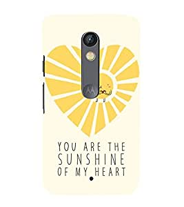 Sunshine 3D Hard Polycarbonate Designer Back Case Cover for Motorola Moto X Force :: Motorola Moto X Force Dual SIM
