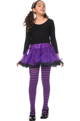 Girls Opaque Nylon Striped Tights Stylin' Upbeat and MANY color choices!