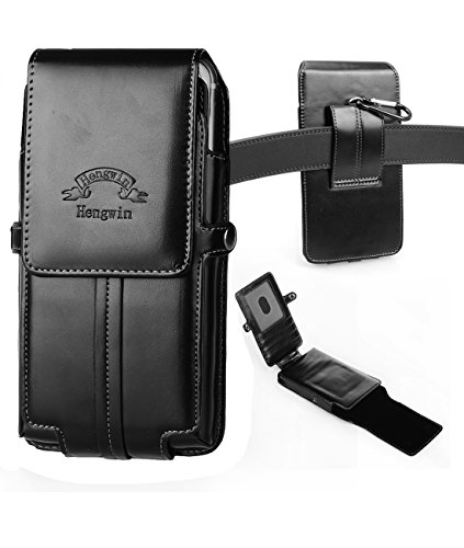 iPhone 6s/7 Plus Holster,Hwin Vertical High Grade Smooth Leather Holster Belt Clip Pouch Carrying Case with Card Slots for iPhone 6 Plus Galaxy Note 5 4 S6 Edge LG G4/G3+Free Keychain(5.5 inch_Black) (Iphone 4 Case Belt Clip Leather compare prices)