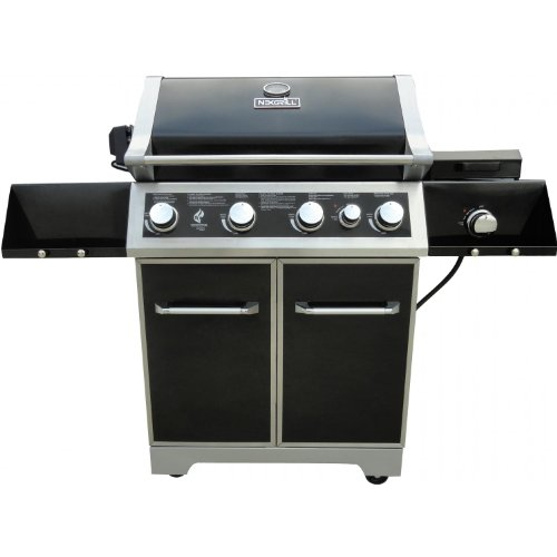 Nexgrill 30-inch 4 Burner Natural Gas Grill On Cart With Rear Burner And Infrared Side Burner