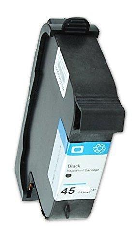 Tintenpatrone Druckerpatrone ersetzt HP C51645A 45A schwarz passend für folgende Drucker: HP Color Copier 110 120 140 150 160 170 260 280 HP DesignJet 700 750c 755c Deskjet 1100c 1120c 1120cxi 1180C 1220c/ps 1280 710c 712c 720cxi 722 815c 820 820cxi 830c 850cxi 855c 870c 880c 895cxi 970cxi 980c Fax 1220 1220xi Officejet g55 g85 g95 k60 K80 R40 R45 R60 R65 R80 T45xi T65 T65xi Officejet Pro 1150C 1150Cse 1170 C1175Cse Photosmart 1000 1215 1315 p1000 p1100 p1215