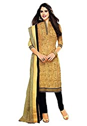 Jashvi Creation Women's Cotton Dress Material (JC_DM_BEIGE_509)