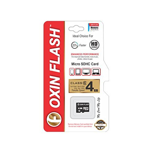 Oxin Flash 4GB MicroSDHC Class 6 (24 MB/s) Memory Card
