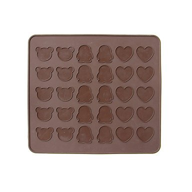 Party Supplies Bear,Heart&Penguin Shape Silicone Cookies Macaron/Macaroon Baking Pastry Sheets Mat Homemade green apple green apple квадратный горшок с автополивом на колесиках 45 45 42 красный