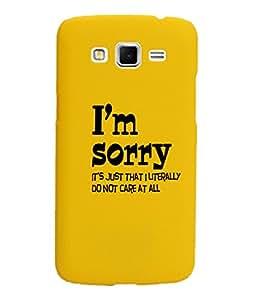 KolorEdge Back Cover For Samsung Galaxy Grand 2 - Yellow(1054-Ke15104SamGrand2Yellow3D)