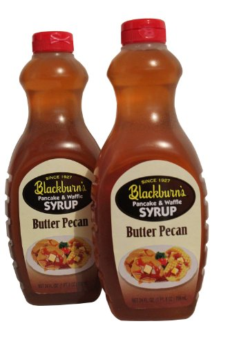 Waffle Syrup, Butter Pecan Flavor, 24 Oz. (Pack of 2) (Butter Pecan ...