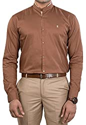 Unkonventional Men's Casual Shirt (unkoribrozzm_Brown_38)