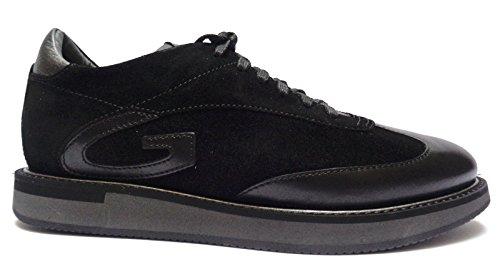 Alberto Guardiani -Guardiani Sport- sneakers da uomo in pelle/camoscio Nero, n. 41