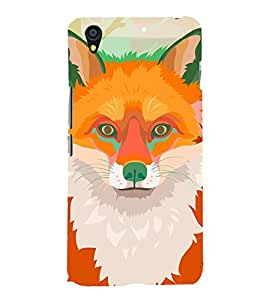 Orange Fox 3D Hard Polycarbonate Designer Back Case Cover for OnePlus X :: One Plus X :: One+X