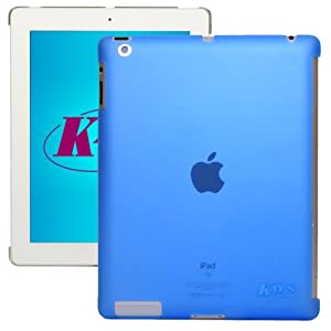 KaysCase Smart Solution Hard Shell Smart Cover Compatible Back Cover Case for Apple new iPad 3 / 4 / 3rd 4th Generation Retina Display (Transparent Blue)