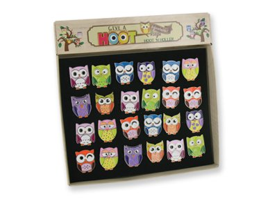 3 Give A Hoot Owl Rings/Fashion Jewelery/Party Favors - 1