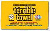 *Official* Pittsburgh Steelers Super Bowl XL Terrible Towel with game score!