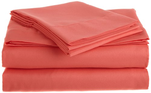 RAMPAGE Bright Sheet Set, Twin, Coral (Coral Sheet Set compare prices)
