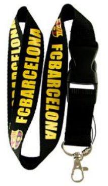 FC Barcelona (Black) Keychain Lanyard