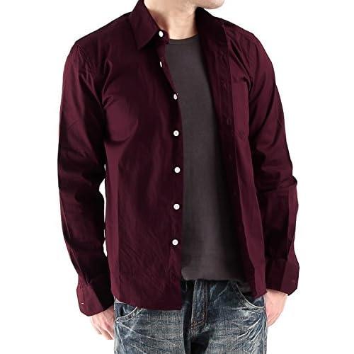 (ラフタス)Rafftas ベーシック カラー ブロード シャツ Mサイズ ワイン メンズ トップス