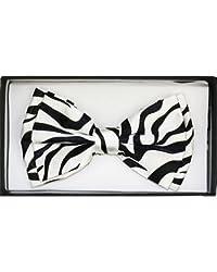 Outer Rebel Fashion Bow Tie- Large Print Zebra