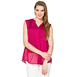 Folklore Women's Tunic Top (FOTP000108_Plum_Large)