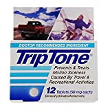 Triptone Caplets for Motion Sick Sickness Relief Sea Sickness Boat Boating Boats Swim Swimming Swimmers Scuba Dive Diving Divers Snorkel Snorkeling Kayak Kayaking Canoe Canoeing Jet Ski Skiing Sail Sailing Drive Driving Fly Flying Sea Sick