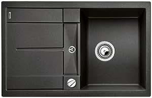 BLANCOMETRA 45 évier encastrable anthracite compatible avec meubles sous évier de 45 cm, cuve réversible - 513035