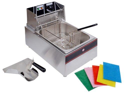 6 Liter Electric Countertop Deep Fryer Tank Basket Commercial Restaurant Kitchen