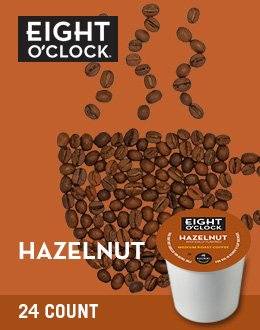 Eight O'Clock Coffee Hazelnut Coffee Beans, 24 Count