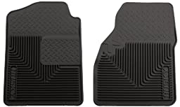 Husky Liners 51031 Semi-Custom Fit Heavy Duty Rubber Front Floor Mat - Pack of 2, Black