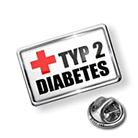 Pin Medical Alert, type 2 diabetes - Lapel Badge - NEONBLOND from NEONBLOND