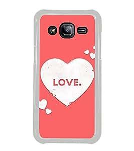 Love Hearts 2D Hard Polycarbonate Designer Back Case Cover for Samsung Galaxy J2 J200G (2015) :: Samsung Galaxy J2 Duos :: Samsung Galaxy J2 J200F J200Y J200H J200GU