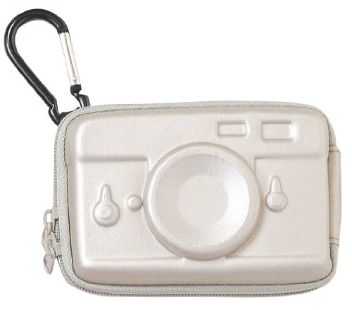 Hard digital camera case (camera) silver