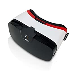 Circle VR Headset Virtual Reality 3D Glasses / VR Box Adjustable 4 ~ 6.5 Inch Screen Phones iphone 5s, IPhone 6 / 6S, Samsung, Nokia, Sony, HTC, Nexus, Oneplus, Moto /