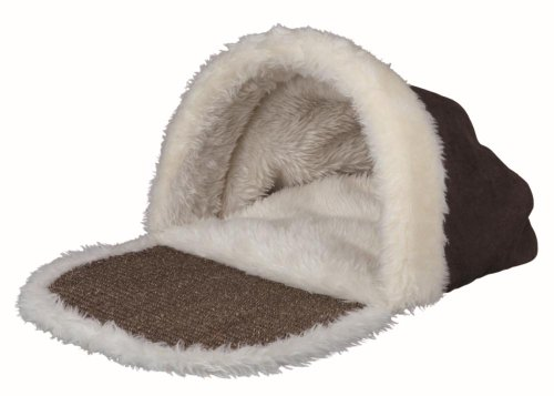Trixie Kyra Cuddly Cave Bed with Sisal Mat for Cats