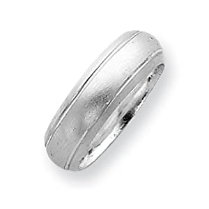 Sterling Silver 6mm Satin Finish Band Ring Size 9 Real Goldia Designer Perfect Jewelry Gift