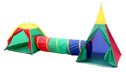 Charles Bentley Children's 3 In 1 Adventure Indoor & Outdoor Igloo Tepee Play Tent Kids Set