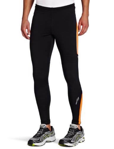 Saucony Saucony Men's Omni LX Tight II, Black/Vizipro Orange, Medium