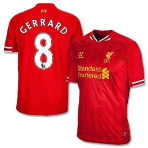 Liverpool Home Shirt 2013 2014 + Gerrard 8-XL by Warrior
