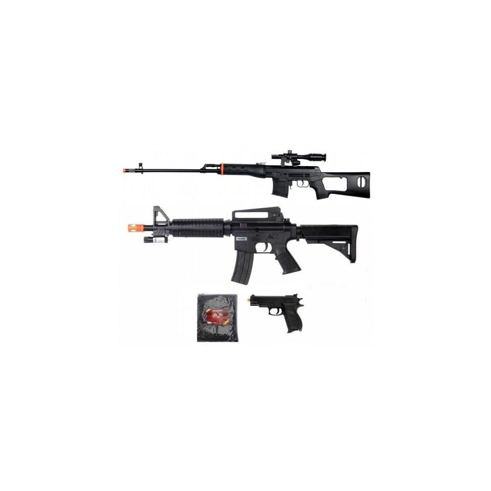 Dragunov Sniper Rifle Scope Flashlight M16 Spring Airsoft and Pistol Gun Lot  Sports & Outdoors