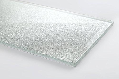Il metro misura e argento con glitter vetro mosaico piastrelle