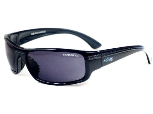 Seattle Seahawks NFL Team Block Sunglasses With Protective Cloth Lens Cleaning Bag In Original NFL Box at Amazon.com