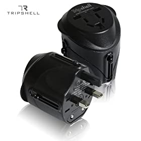 Tripshell International All-in-One Travel Plug Adapter With Surge Protection - Retail Package
