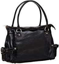 Floto Monticello Handbag, Black, One Size