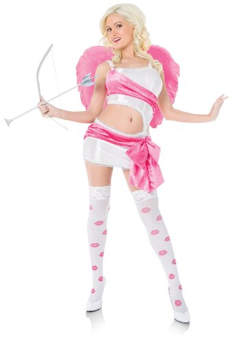 Playboy Womens Cupid Angel Valentines Outfit Fancy Dress Sexy Costume