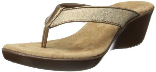 Aerosoles Women's Wide Eyes Wedge Sandal,Brass/Bronze,9 M US