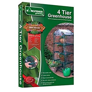 KINGFISHER 4 TIER GREENHOUSE GREEN HOUSE