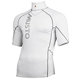 Musto Mens Short Sleeve Rash Vest Sports Base Layer (L) (White)