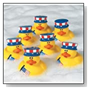 Patriotic 4th of July Rubber Duckys