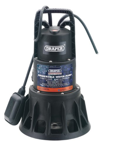 Draper 69690 320-Litres-per-Minute (Maximum) 230-Volt 1,000-Watt Submersible Dirty Water Pump with Float Switch