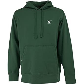 NCAA Michigan State Spartans Signature Hoodie Mens by Antigua