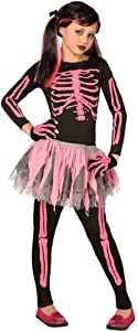 Skeleton Punk Pink Child 12-14 Costume Item