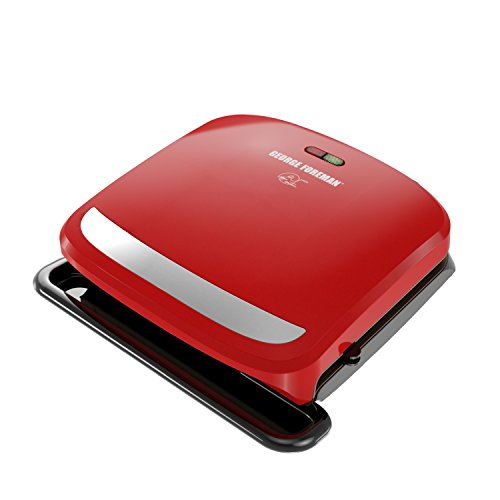 George Foreman GRP360R 4 Serving Removable Plate 360 Grill, Red (Foreman 360 Grill compare prices)